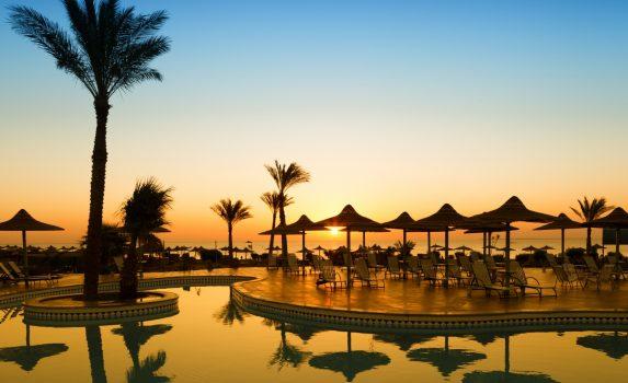 フルガダの朝の風景 エジプトの風景