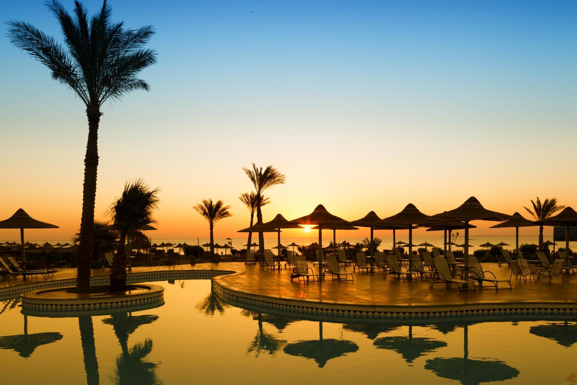エジプト フルガダの朝の風景