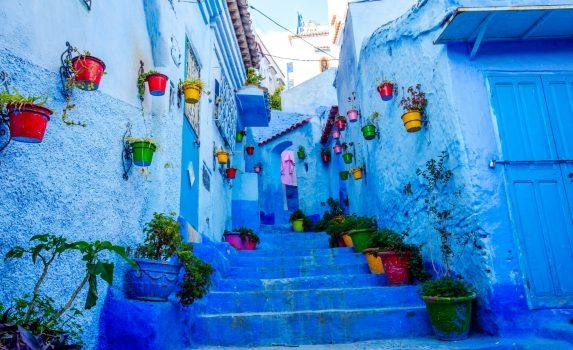 青の町 シャウエンの風景 モロッコの風景