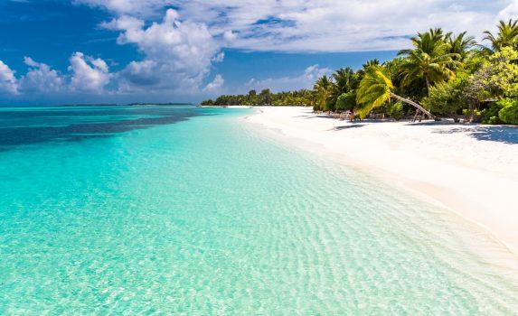 楽園の風景 常夏の島 モルディブの風景