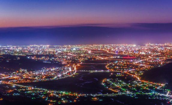 台湾 新竹の夜景 台湾の風景