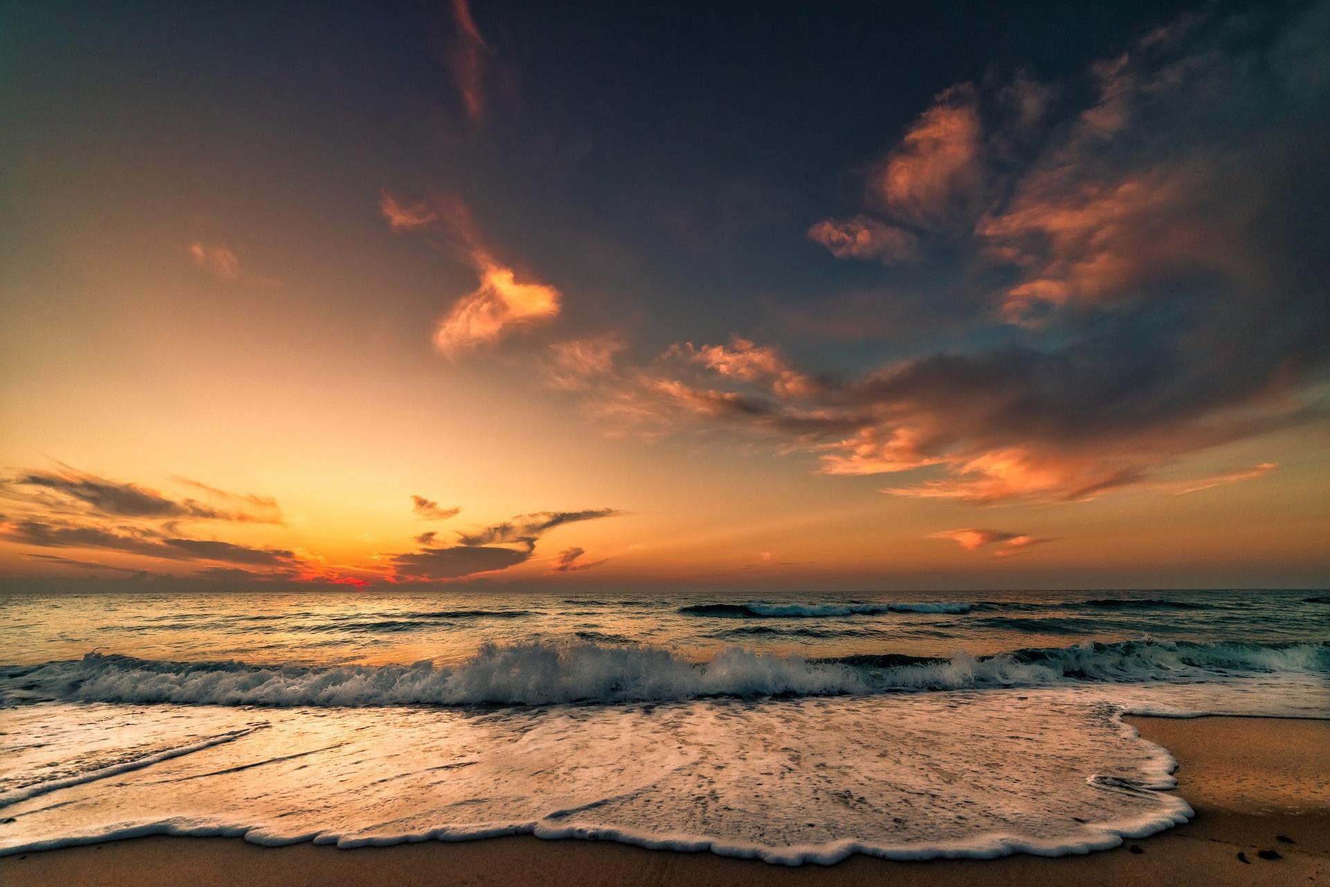 ハンマメットの日の出の風景 チュニジアの風景