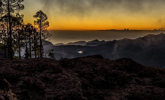 グラン・カナリア島の日暮れの風景 スペインの風景