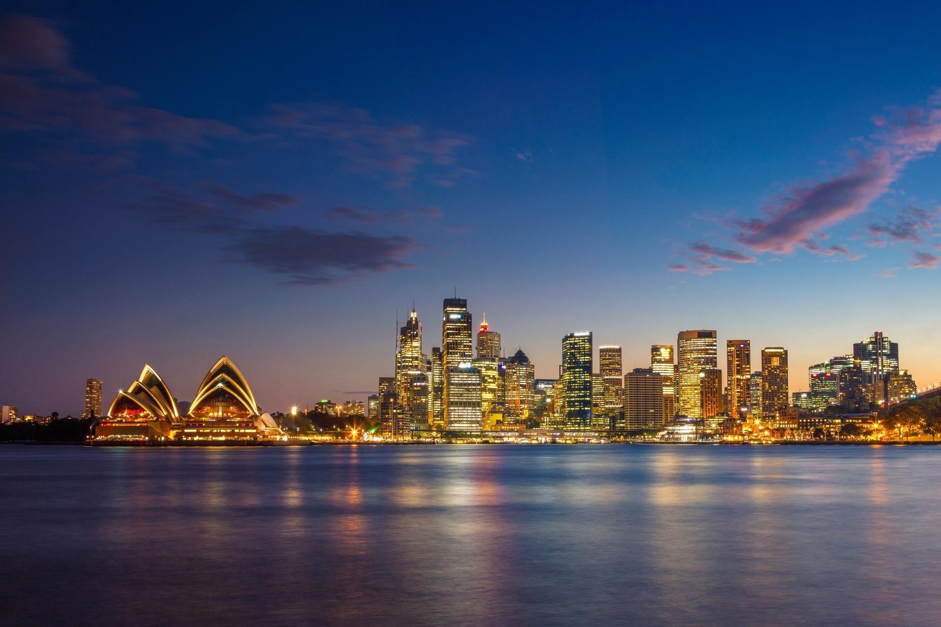夕暮れのシドニーの風景 オーストラリアの風景