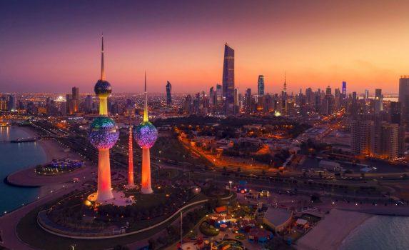 クウェートの夜景 夜のクウェートの風景