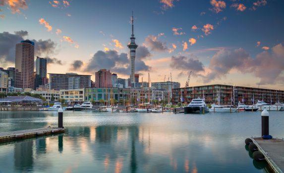 オークランドの日の出の風景 ニュージーランドの風景