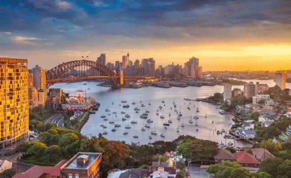 夕暮れ時のシドニーの風景 オーストラリアの風景