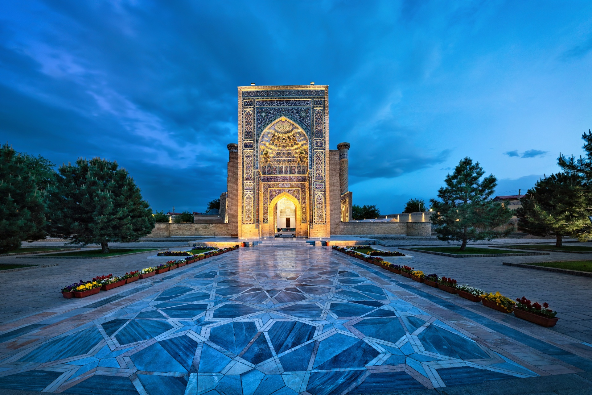 サマルカンドのグーリ・アミール廟 ウズベキスタンの風景