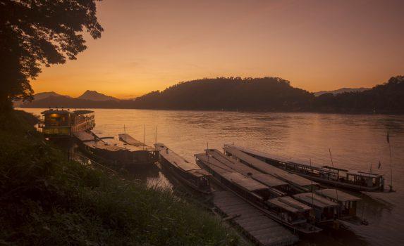 メコン川の風景 ラオスの風景