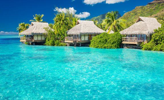 フランス領ポリネシア モーレア島の風景