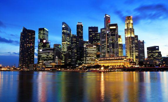 夜のシンガポール シンガポールの風景
