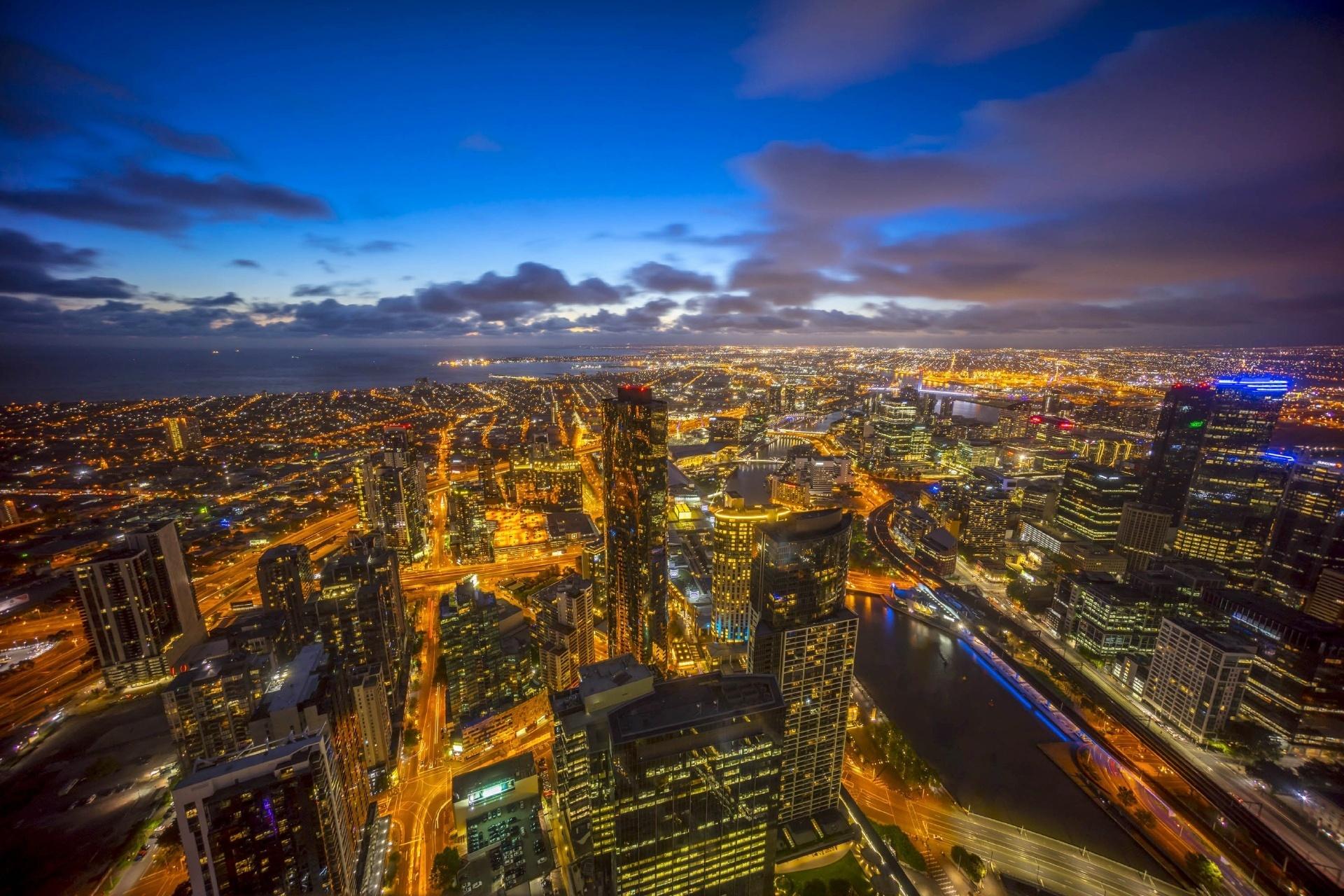 夕暮れのメルボルンの街 オーストラリアの風景