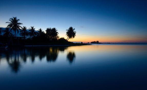 マレーシアの朝のビーチの風景 マレーシアの風景
