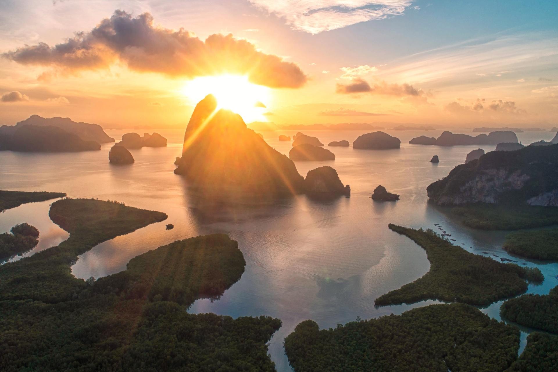 クラビの朝の風景 タイの風景