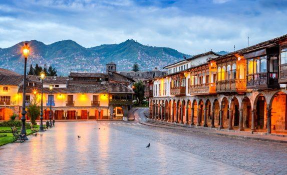 クスコの風景 ペルーの風景