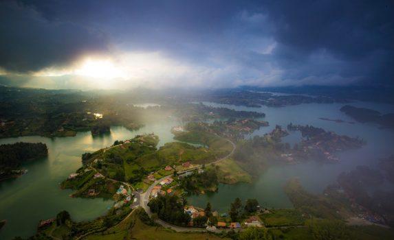 グアタペの風景 コロンビアの風景