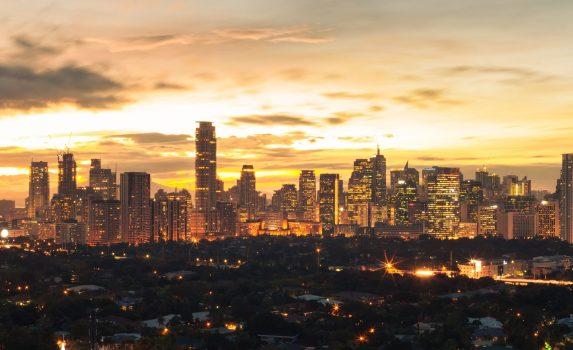 夕暮れのマニラの風景 フィリピンの風景