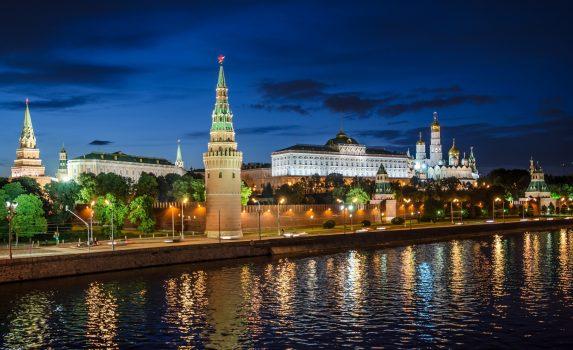 モスクワの夜景 ロシアの風景