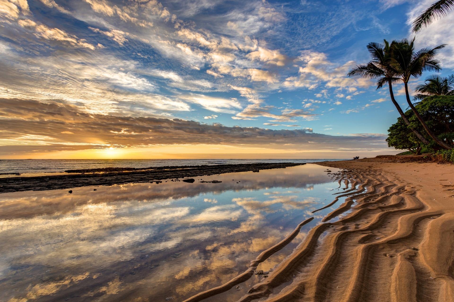 カウアイ カイラニの日の出の風景 ハワイの風景