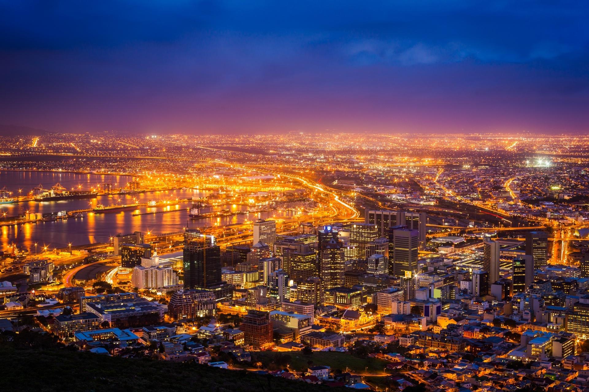 夜明けのケープタウンの風景 南アフリカの風景