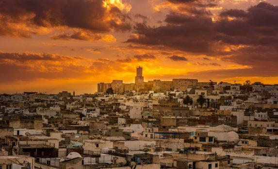 スースの夕暮れ チュニジアの風景
