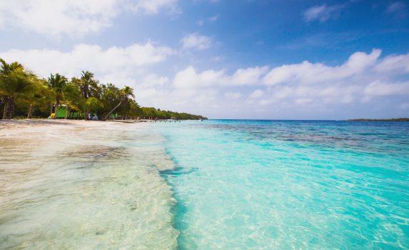 カリブ海の美しいビーチ ベネズエラの風景