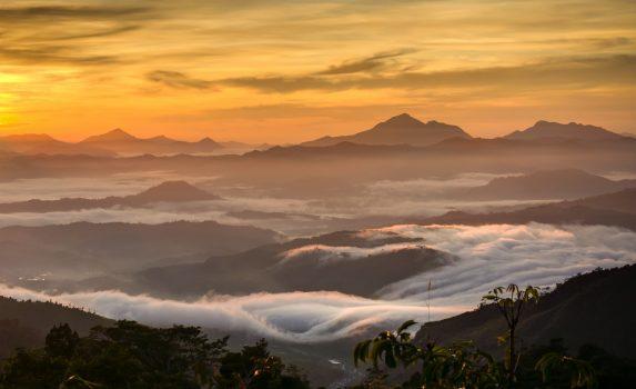 朝のコタキナバル マレーシアの風景