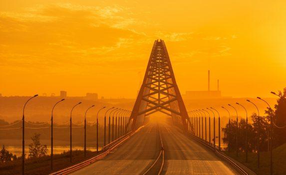 ノヴォシビルスクの風景 ロシアの風景