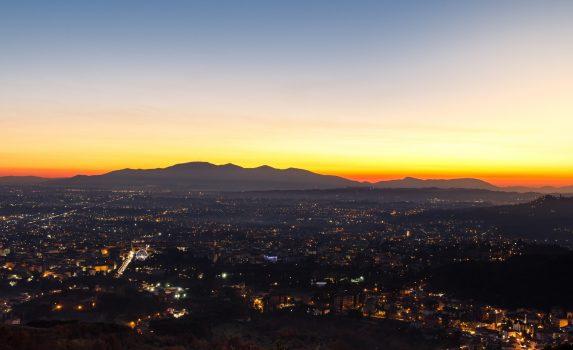 夕暮れのトスカーナ イタリアの風景