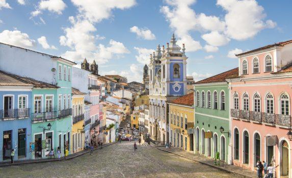 サルヴァドール・デ・バイア歴史地区の町並み ブラジルの風景