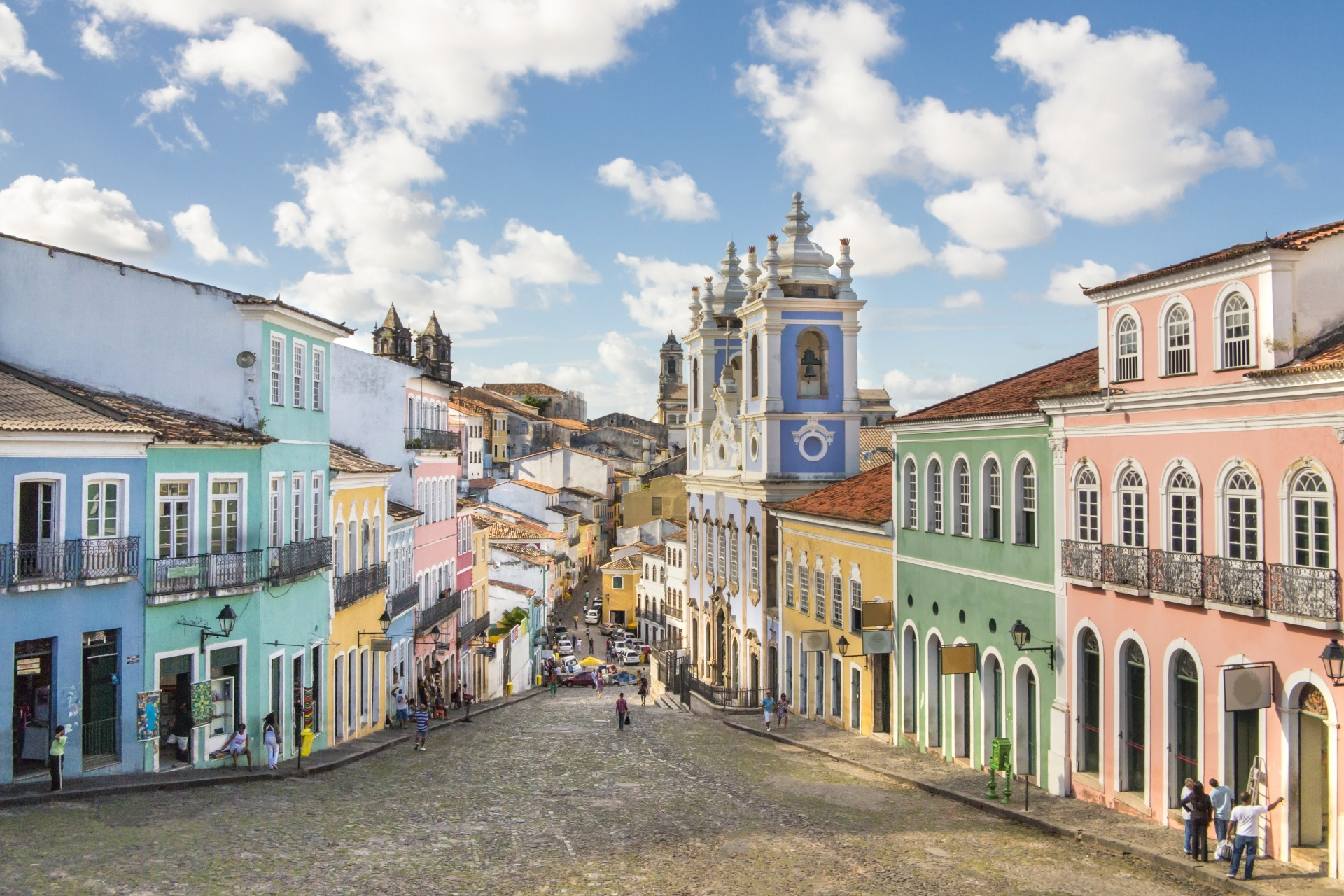 ペロウリーニョの町並み ブラジルの風景