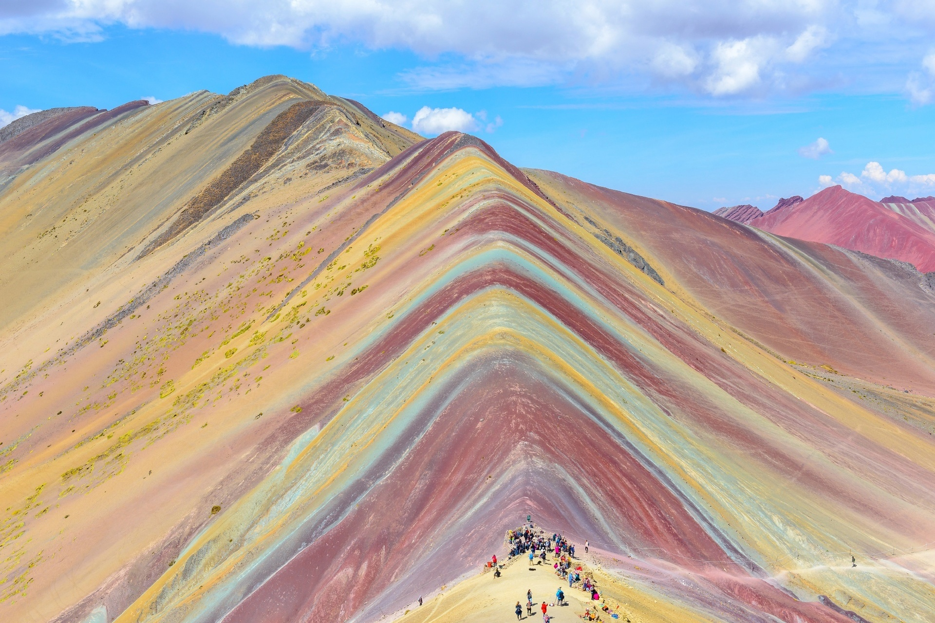 レインボーマウンテンの風景 ペルーの風景