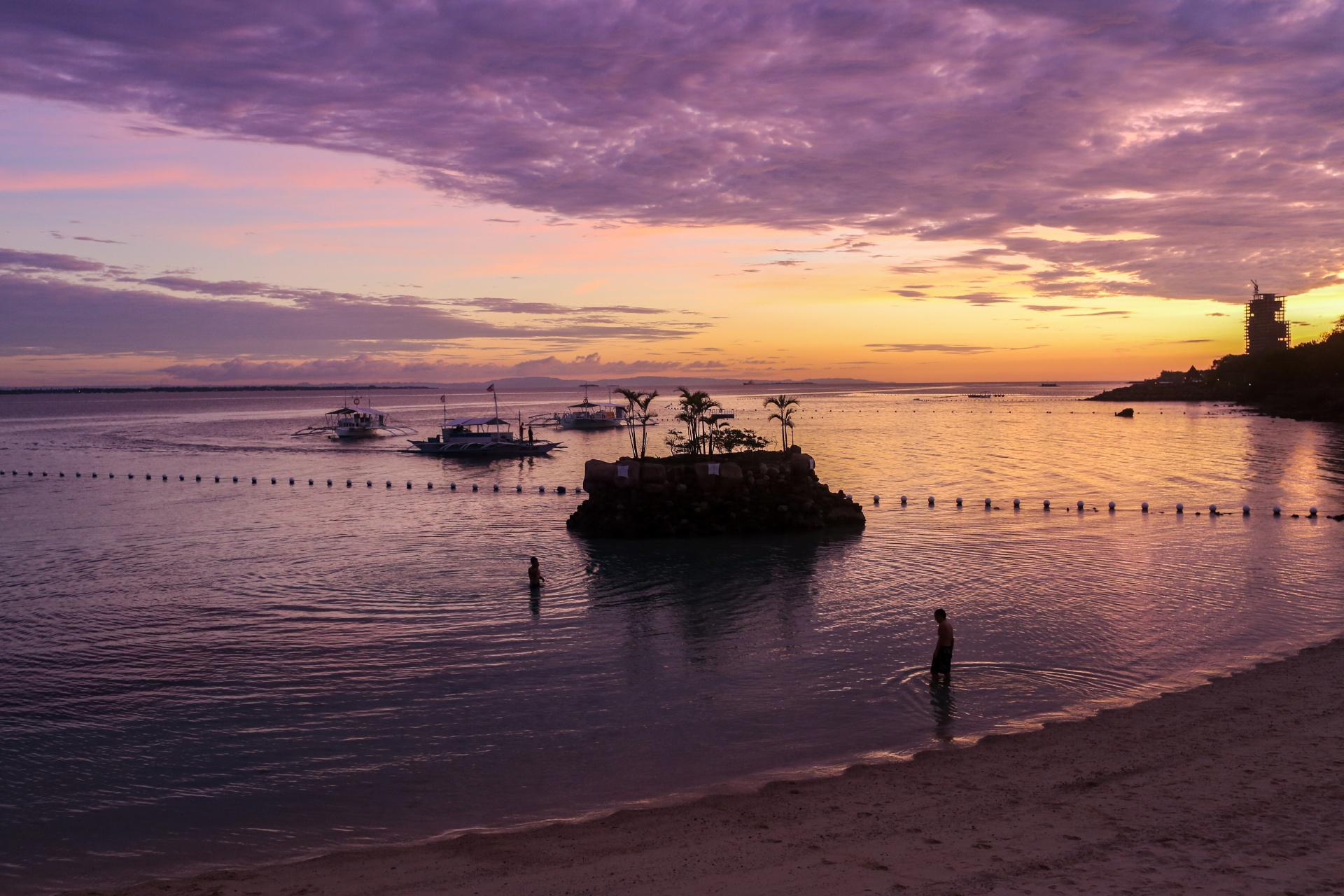 セブ島の夕暮れの風景 フィリピンの風景