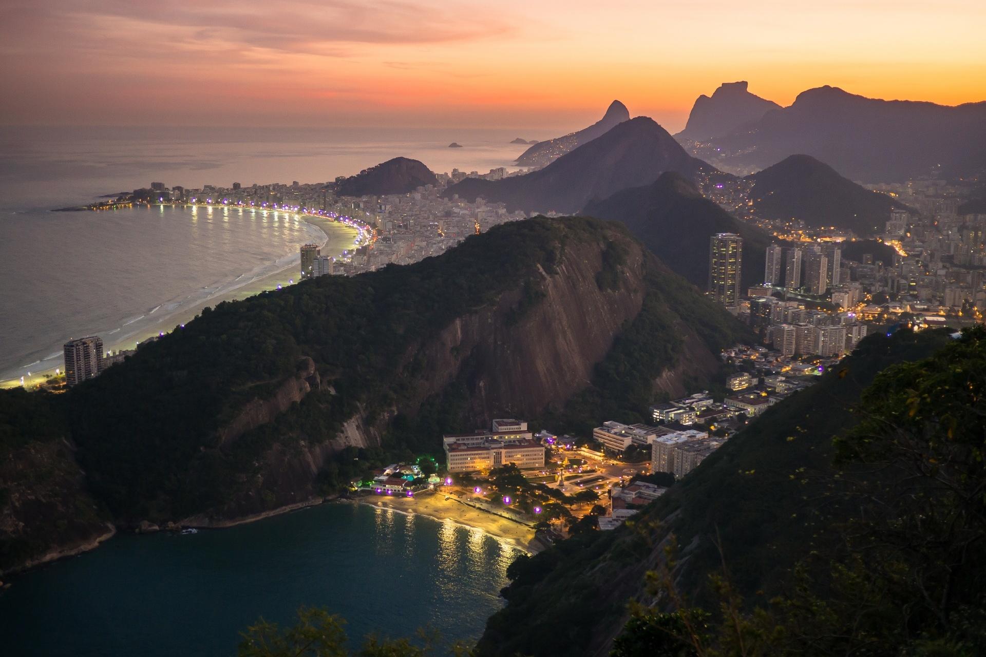 夕暮れのリオデジャネイロ ブラジルの風景