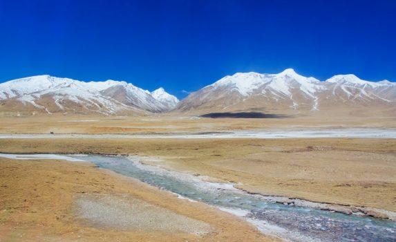 青蔵鉄道から見る風景 チベットの風景