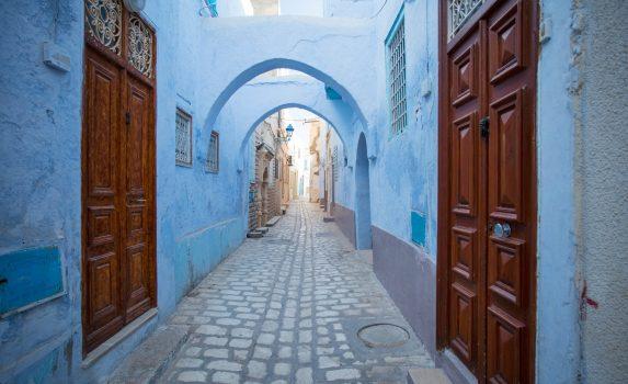 チュニジアの旧市街の風景 チュニジアの風景