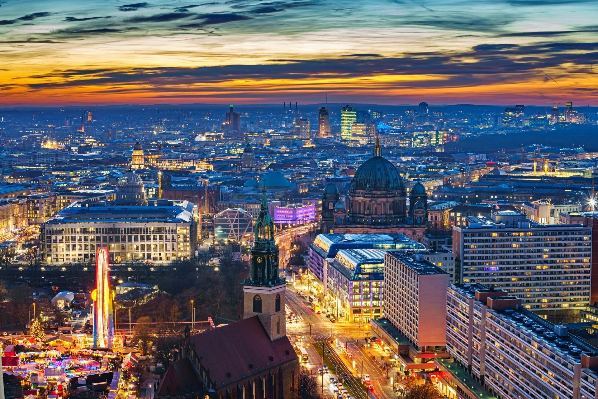 ベルリンの夜の風景 ドイツの風景