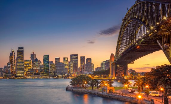 シドニーの夏の夕暮れの風景 オーストラリアの風景