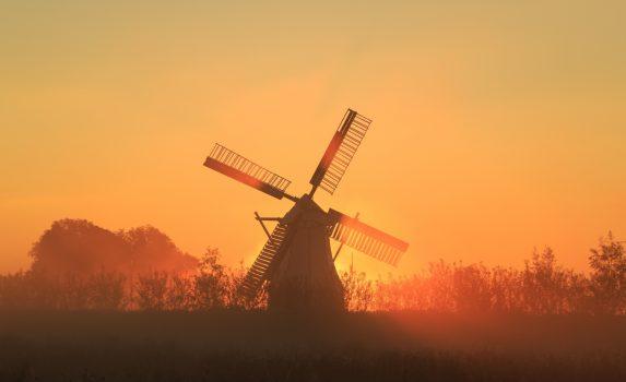夏の朝 オランダの風景