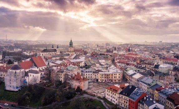 ルブリンの夕暮れ ポーランドの風景