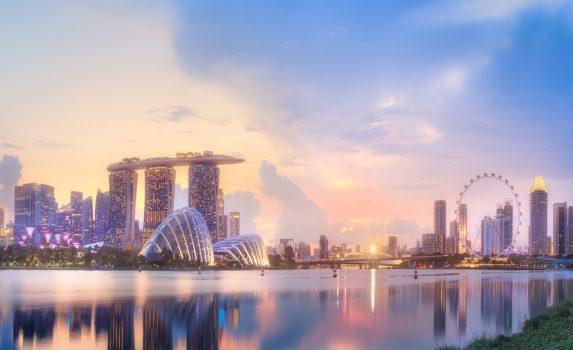 マリーナベイの風景 シンガポールの風景