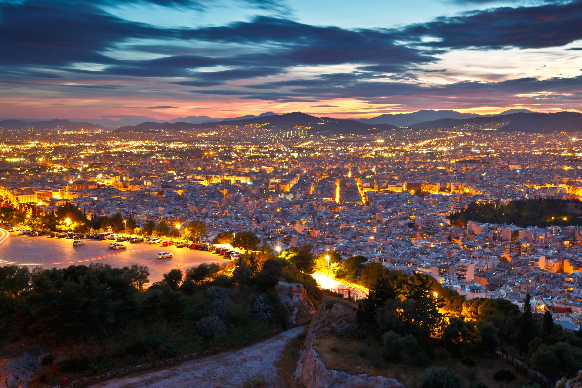 リカヴィトスの丘の風景 ギリシャの風景