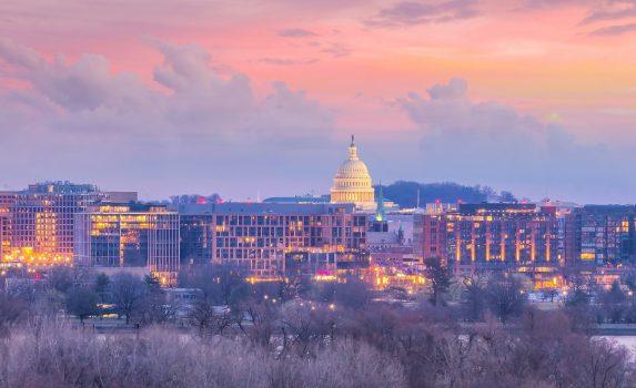 ワシントンD.C.の夕暮れ アメリカの風景