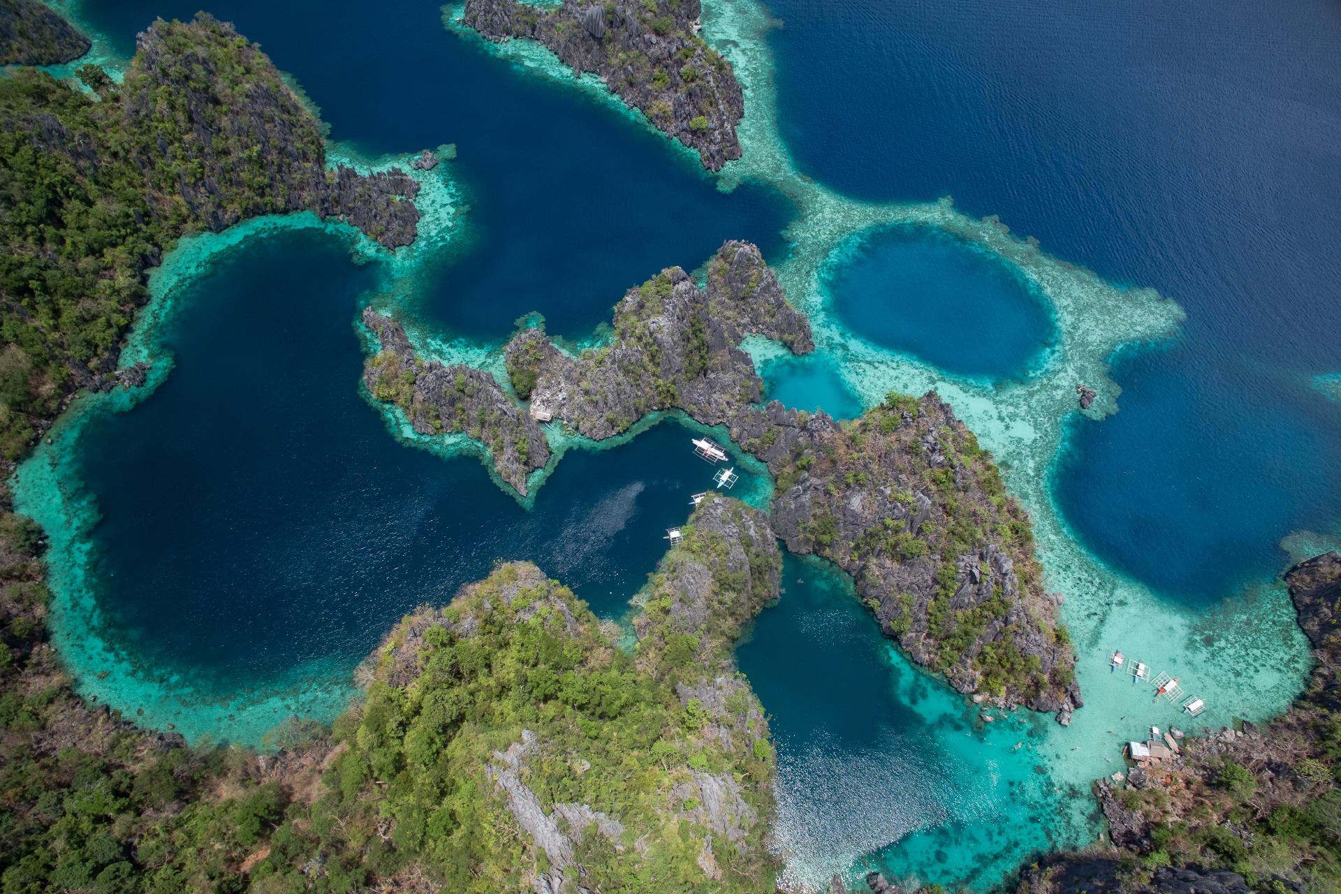 コロン島の風景 フィリピンの風景