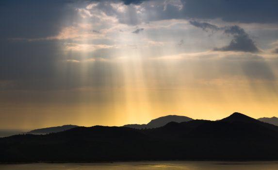 嵐の後の風景 クロアチアの風景