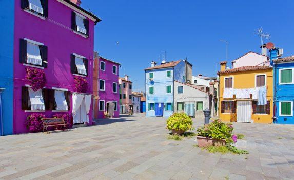 ブラーノの風景 イタリアの風景
