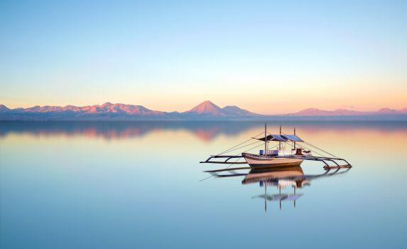 夕暮れの海 フィリピンの風景
