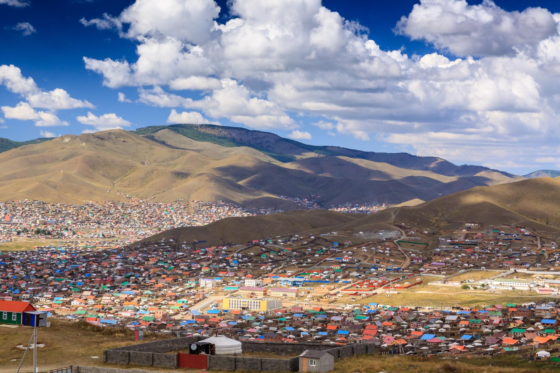 ウランバートルの風景 モンゴルの風景