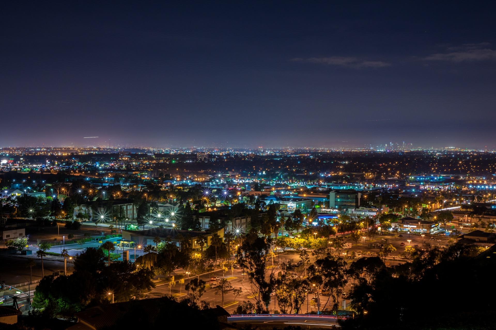 夜のシグナル・ヒルの風景 アメリカの風景