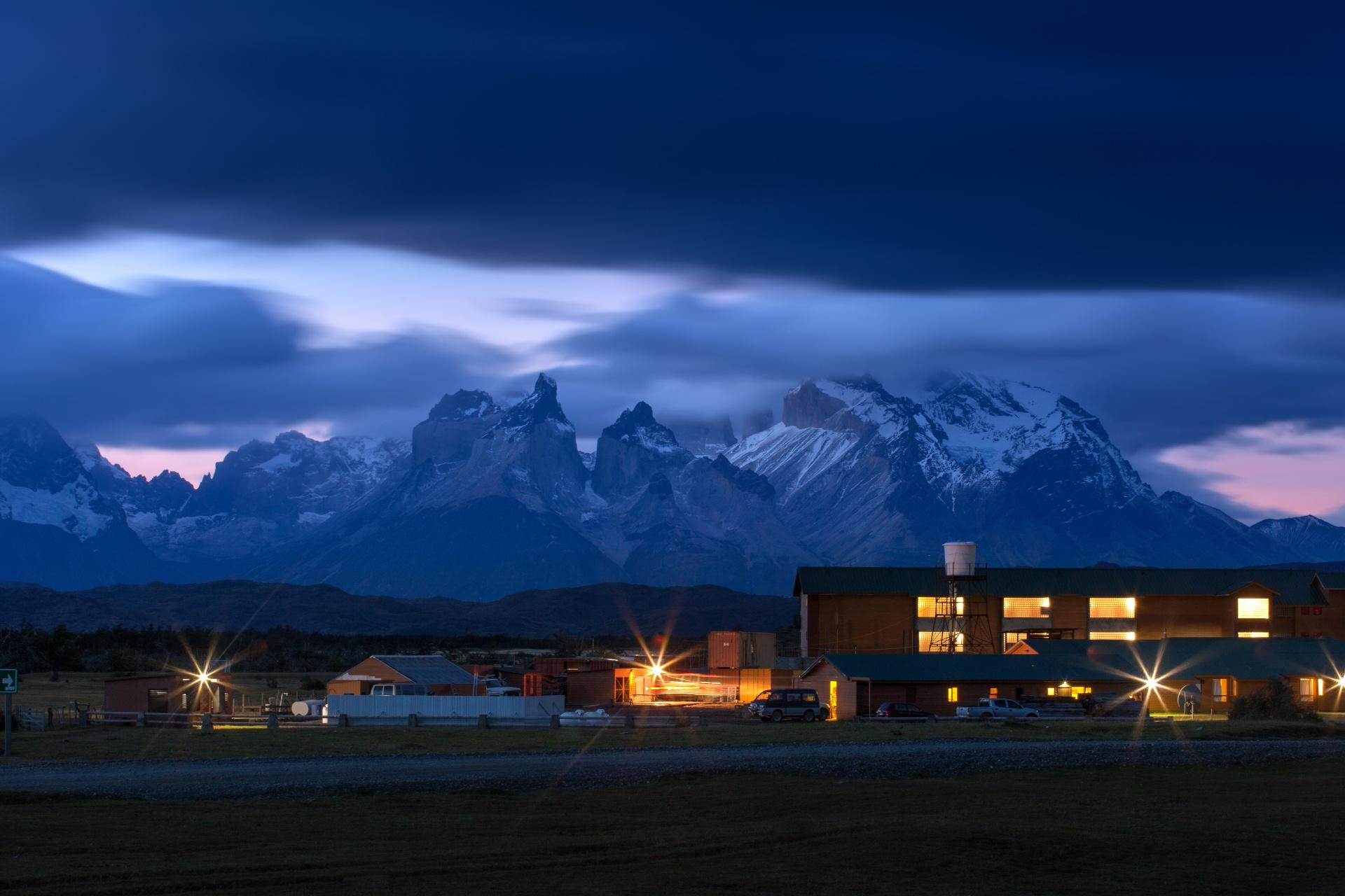 夜のパタゴニア チリの風景